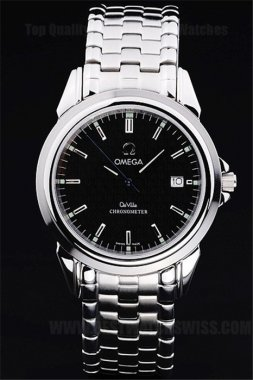 Omega Deville Highest Quality Men's Stainless Steel Replica Watches Om4393