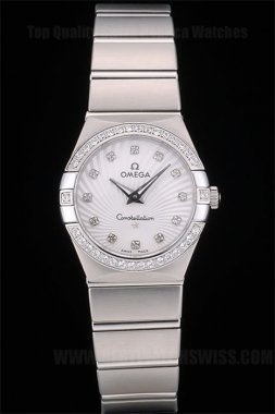 Omega-Constellation Professional Ladies' Quartz Replica Watches Om80291