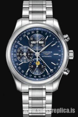Longines Master Collection Moon Phase Blue Dial L2.773.4.92.0 Automatic Chronograph