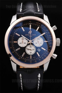 Breitling Navitimer 80% Off Men's 18k rose gold Replica Watches Br3598
