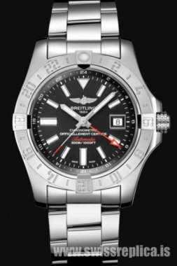 Breitling Avenger II GMT Stainless Steel Black Dial A32390111B1A1