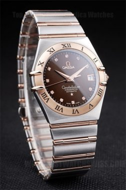 Omega-Constellation Professional Men's Quartz Replica Watches Om4486