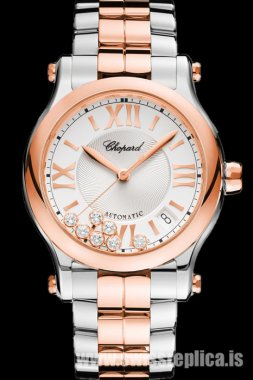 Chopard Happy Sport Automatic 36mm Steel And Rose Gold 278559-6002