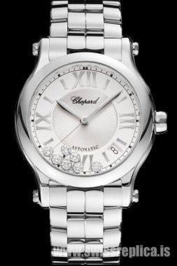 Chopard Happy Sport Diamond Automatic Silver Dial 278559-3002