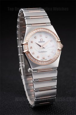 Omega Constellation 2019 Ladies' 18k rose gold Replica Watches Om4469