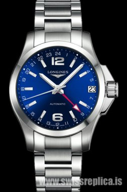 Longines Conquest GMT Automatic Stainless Steel Blue Dial L3.687.4.99.6