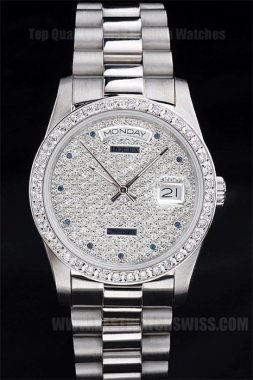 Rolex Daydate Best Choice Men's sapphire crystal Replica Watches R4832
