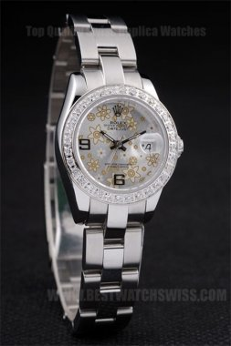 Rolex Datejust Top Ladies' sapphire crystal Replica Watches R4682