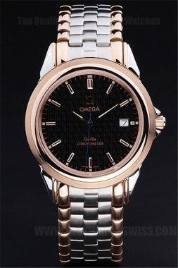 Omega Deville Greatest Men's 18k rose gold Replica Watches Om4394