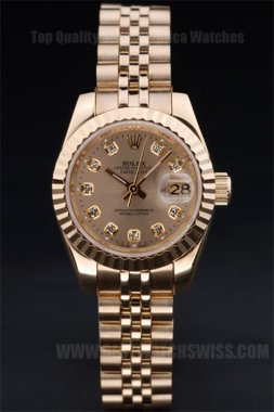 Rolex Datejust Well-Known Ladies' 18K yellow gold Replica Watches R4744
