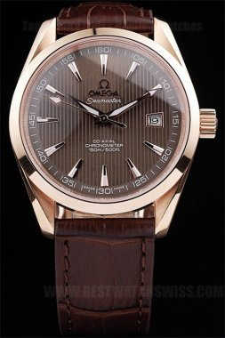 Omega Seamaster Hot Sale Men's 18k rose gold Replica Watches Om4460