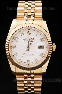 Rolex Datejust The Hottest Men's 18k yellow gold Replica Watches R4694