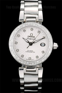 Omega Deville Discount Price Ladies' Quartz Replica Watches Om4372