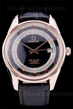 Omega Deville High Quality Men's Sapphire Crystal Replica Watches Om4384