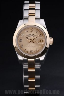 Rolex Datejust Well-Known 18k yellow gold 34*26MM Replica Watches 4741