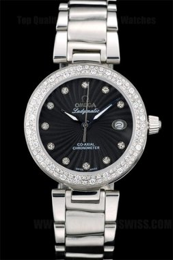 Omega Deville Great Ladies' Sapphire Crystal Replica Watches Om4370