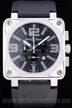 Bell & Ross Carbon Most popular Battery 50*44MM Replica Watches 3430