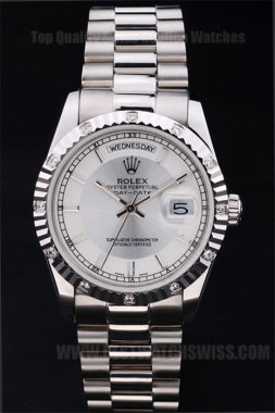 Rolex Daydate Good Men's Sapphire Crystal Replica Watches R4817