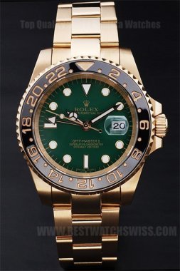Rolex GMT Master Top Quality Men's 18K yellow gold Replica Watches R169