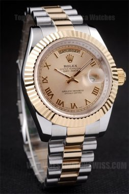 Rolex Daydate AAA+ Men's 18k yellow gold Replica Watches R4811