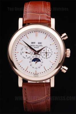 Patek Philippe Complicated Professional Men's Sapphire Crystal Replica Watches PP4625