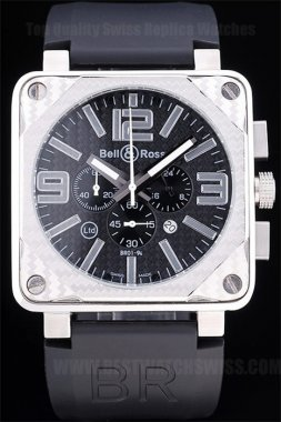 Bell & Ross Carbon Top Quality Men's Stainless Steel Replica Watches Be3430