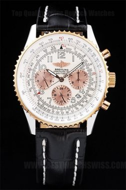 Breitling Navitimer Cheap Men's 18K yellow gold Replica Watches Br3487