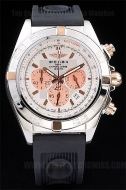 Breitling Chronomat 70% Off Men's 18k rose gold Replica Watches Br3503