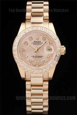 Rolex Datejust High Quality Ladies' 18K yellow gold Replica Watches R4665