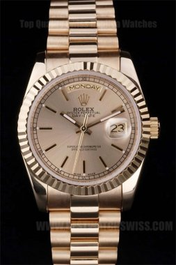 Rolex Daydate Cheap Price Men's 18K yellow gold Replica Watches R4829