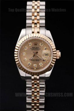 Rolex Datejust Top Ladies' Sapphire Crystal Replica Watches R4713
