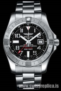 Breitling Avenger II GMT A3239011.BC34.170A Mens Stainless Steel Watch