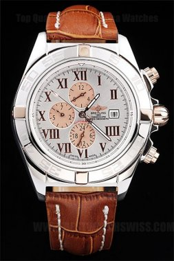 Breitling Chronomat Best Men's 18k rose gold Replica Watches Br3499