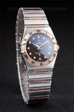 Omega Constellation Best Ladies' Stainless Steel Replica Watches Om4473