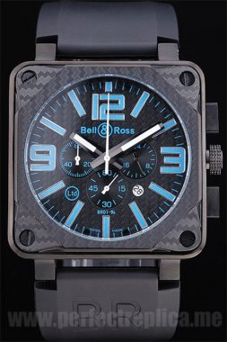 Bell & Ross Carbon factory direct Battery 50*44MM Replica Watches 3432