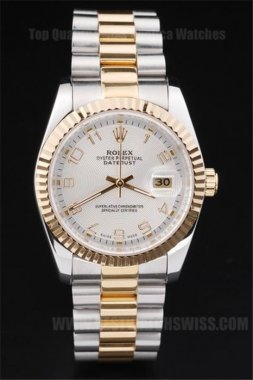 Rolex Datejust Great Men's 18k yellow gold Replica Watches R4709
