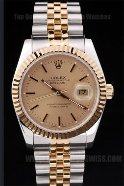 Rolex Datejust Great Men's 18k yellow gold Replica Watches R4689