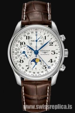 Longines Master Collection Moonphase L2.673.4.78.3 Leather Strap