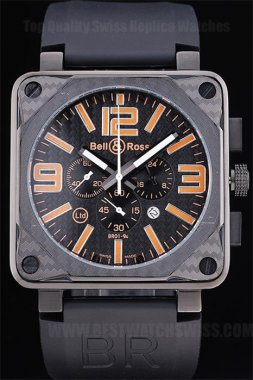 Bell & Ross Carbon Professional Men's Stainless Steel Replica Watches Be3436