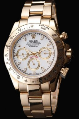 Rolex Daytona 75% Off Men's 18k yellow gold Replica Watches R23