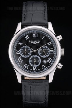 Longines AAA+ Men's Stainless Steel Replica Watches Lo80224