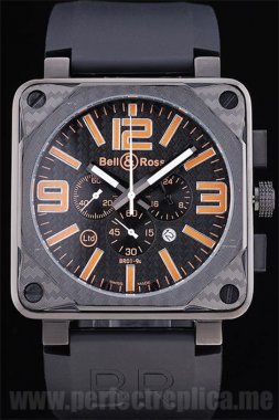 Bell & Ross Carbon Top Quality Battery 50*44MM Replica Watches 3436