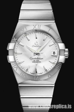 Omega Constellation Co-Axial 38mm Silver Dial 123.10.38.21.02.001