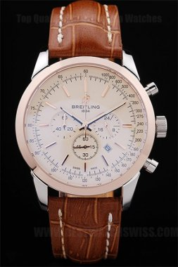 Breitling Navitimer Best Men's 18k rose gold Replica Watches Br3610