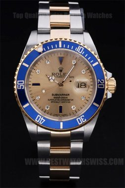 Rolex Submariner 90% Off Men's 18K yellow gold Replica Watches R55