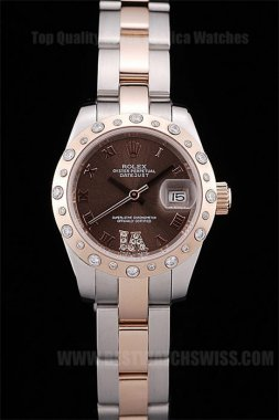 Rolex Datejust 70% Off Ladies' Sapphire Crystal Replica Watches R4666
