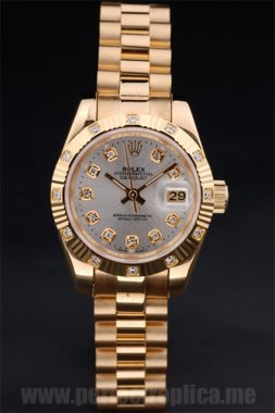 Rolex Datejust Luxury 18k yellow gold 35*27MM Replica Watches 4743
