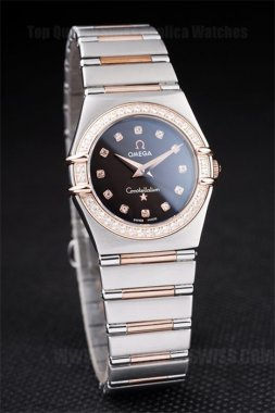 Omega Constellation Cheap Ladies' 18k rose gold Replica Watches Om4465
