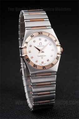 Omega Constellation 80% Off Ladies' 18k rose gold Replica Watches Om4480