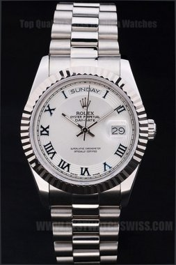 Rolex Daydate Well-Known Men's Stainless Steel Replica Watches R4816